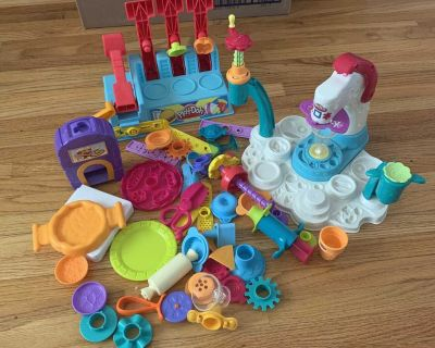 Large lot of Play-Doh food makers