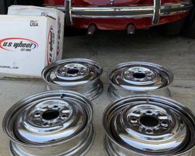 VW Beetle Chrome 4x130 15x5 Smoothie Rims set