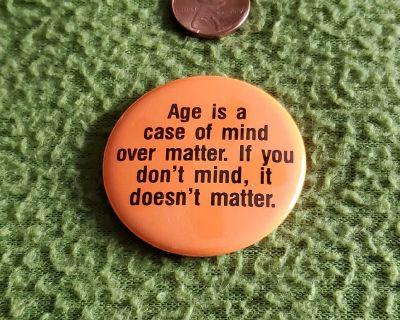 Age Button Pin
