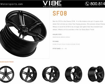 All New for 2019 - Stance Wheels SF08 Rotary Forged Light Weight Max Concave Design