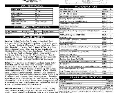 2022 Bennington LT Series 23 LTSB - BOWRIDER SWINGBACK