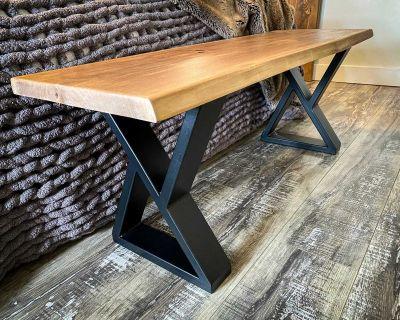 Live edge coffee table / bench