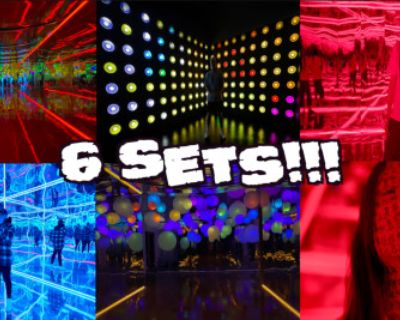Multi set Color-changeable Light wall neon Led Mirror Warehouse DANCE !!!!, Los Angeles, CA