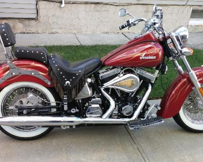 2002 Indian Spirit Deluxe Custom, 9,000 orig miles Garage kept. Must sell. Asking price is $10,000. Or best offer. Price is very negotiable.