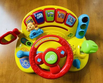 VTech Turn and Learn Car - Like New with Batteries ($
