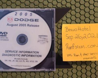 2005 Dodge Ram 1500, 2500, 3500 shop manual DVD + others