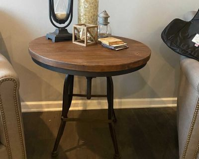 Pottery Barn Swivel Real Wood Side Table