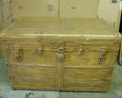 Upcycled awhile back Antique Vintage Steamer Storage Trunk