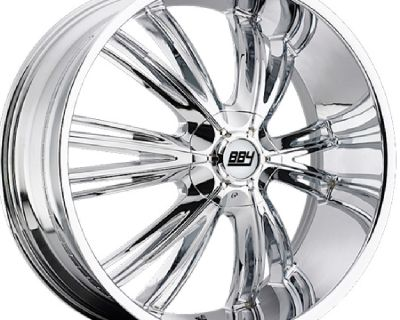 brand new BBY 956 | 26x9.5 5x115/120 (Chrome) 4 wheels