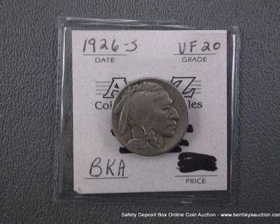 VF 20 BKA INDIAN HEAD/BUFFALO NICKEL-1926-S