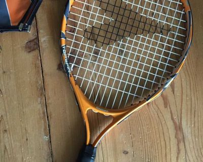 Junior tennis racket with cover