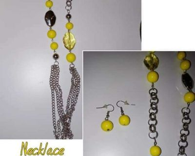 Necklace and earrings set REDUCED!