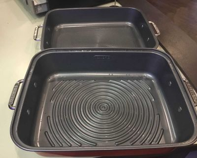Two piece oven roaster
