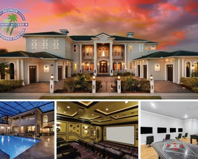 Reunion Mansion | 9 Bed, 11 Bath, 10,000 sq ft, Huge Screened Pool, 2 Games Room - Reunion