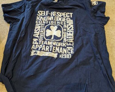Size large, free t shirt, good condition
