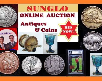 Sunglo Antiques & Coins Online Auction - SHIPPING & LOCAL PICKUP AVAILABLE! Summer Days Sale