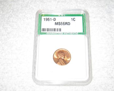 1961 D Lincoln Penny Slabbed MS66RD