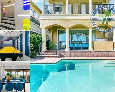 Golden Villa | Awesome Kids Bedroom | Pool Table | Golf Course Views in Reunion Resort - Reunion