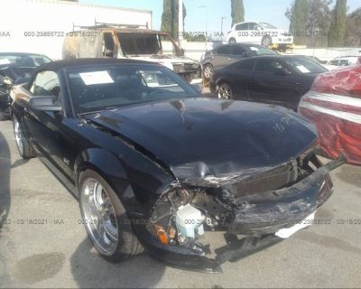 Salvage Black 2005 Ford Mustang