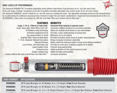 Rancho RS9000XL are now here for the JL!