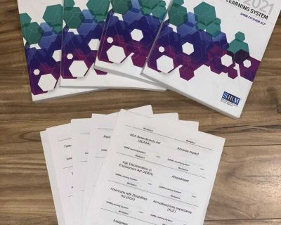 2021 SHRM Learning System and complete flash card set