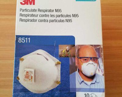 Masks. 3m 8511 N95. **NEW** Box of 10.