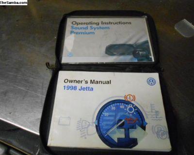 98 Jetta owners manual