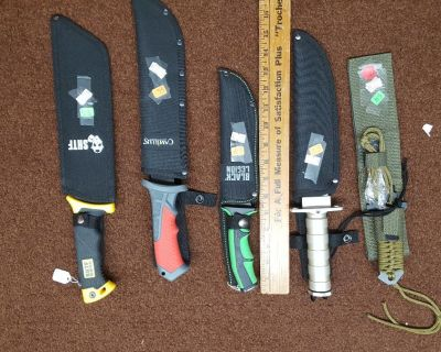hunting daggers mixed $50 firm for all 5