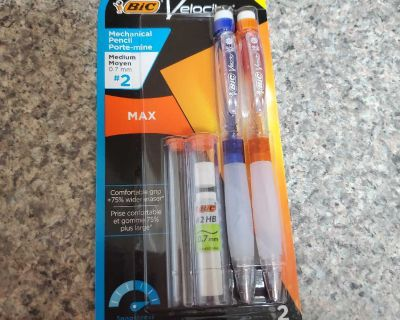BIC, VELOCITY, MEDIUM #2 PENCILS, BRAND NEW NEVER BEEN OPENED, EXCELLENT CONDITION, SMOKE FREE HOUSE
