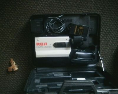 Rca vhs camcorder with case