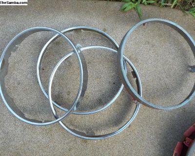 Porsche Headlight Chrome Retaining Ring-Hella