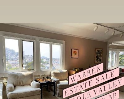 1-Day Only Cole Valley Penthouse filled with High-end objects, Chinese antique and vintage clothing