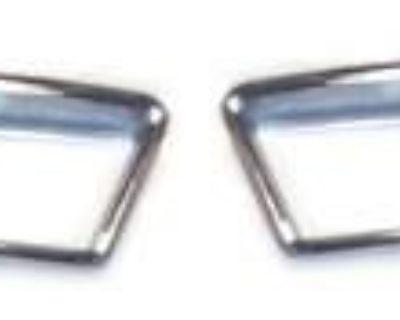 70 Mustang Front Marker Light Bezels, Pair