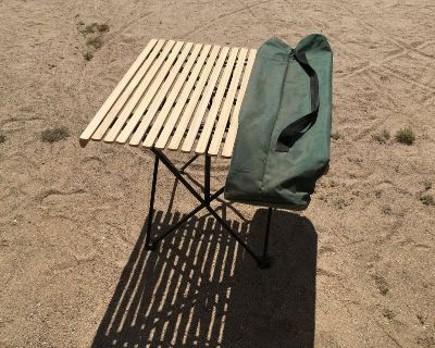 Camping Table with wood top