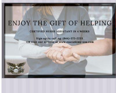 Certified Nurse Assistant in 4 weeks !