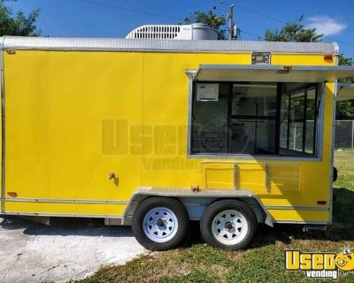 2005 7.5' x 14' Licensed Commercial Mobile Kitchen Food Concession Trailer or Sale in Florida!