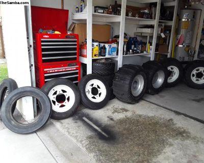 5 Wide VW baja buggy rims wheels lot