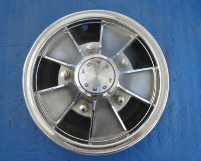 """1 Used 66 67 68 Ford Mustang Fairlane Falcon 14"""" Mag Type Hubcap C60z1130k Sk4"""