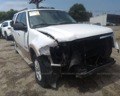 Salvage White 2007 Ford Expedition