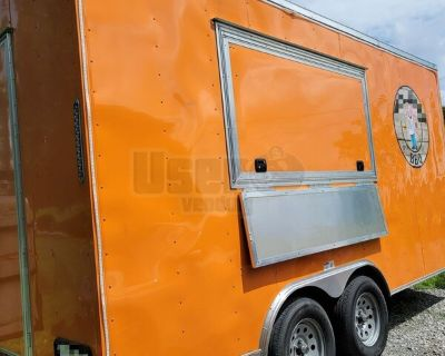 2021 8.5' x 16' Lightly Used Mobile Kitchen Food Concession Trailer