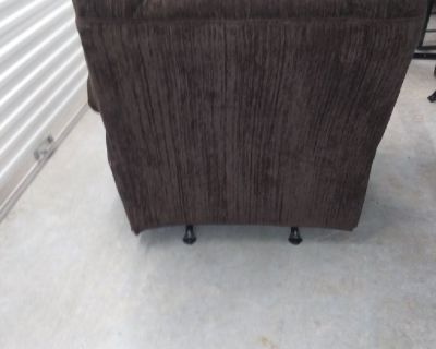 Plush deep back ashely couch and recliner