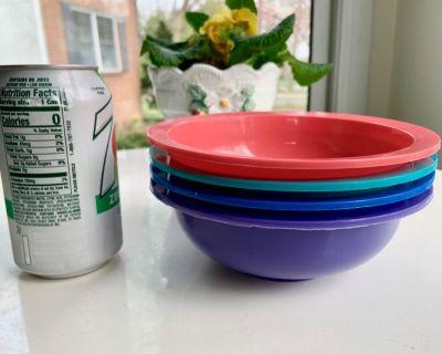 4 - Tucker Housewares Plastic Bowls