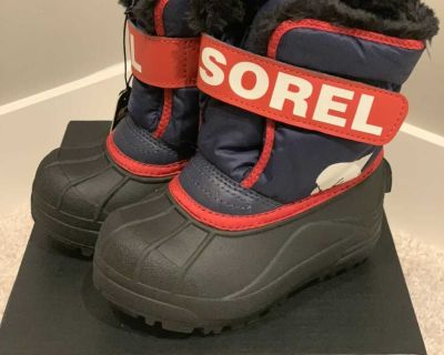 new toddler boys Sorel winter boots size 9