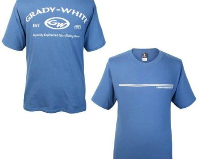 Grady White Boats Hanes Beefy Short Sleeve T-shirt Blue