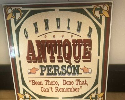Tin and Baked Enamel Sign