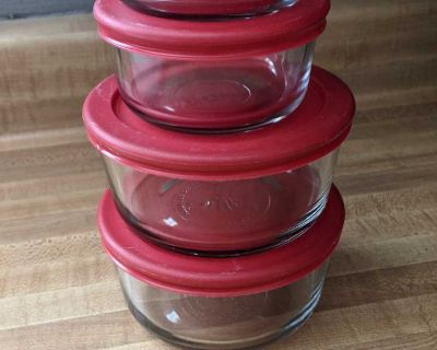 Anchor Hocking Glass Dishes with Lids