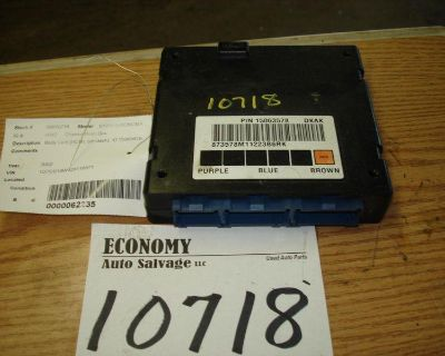 Chevrolet S10/s15/sonoma Chassis Brain Box Body Cont (bcm); Id 15063578 02