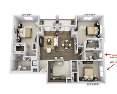 Room available in 3bed/2bath - Flagler Village
