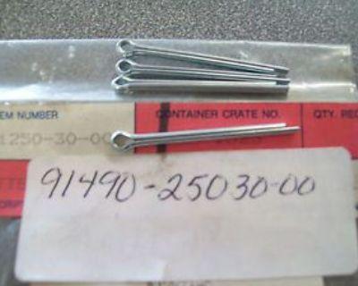 Genuine Yamaha Cotter Pin (4) Cs340 Br250 Ttr250 & More 91490-25030 New Nos