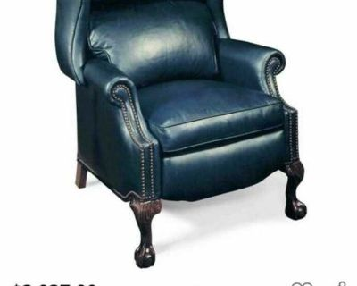 Presidential Ball Claw Recliner - Real Leather (green)